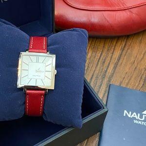 Nautica Red Watch